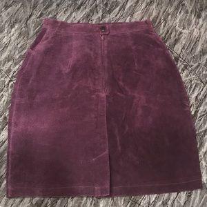 Bagatelle suede skirt